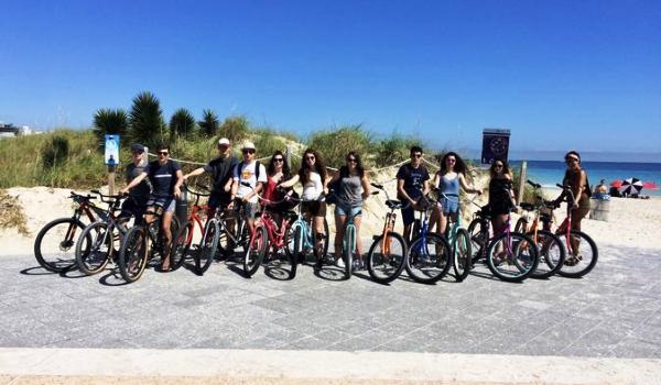 south beach miami in bicicletta